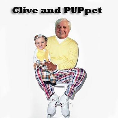 Clive Palmer marionetten