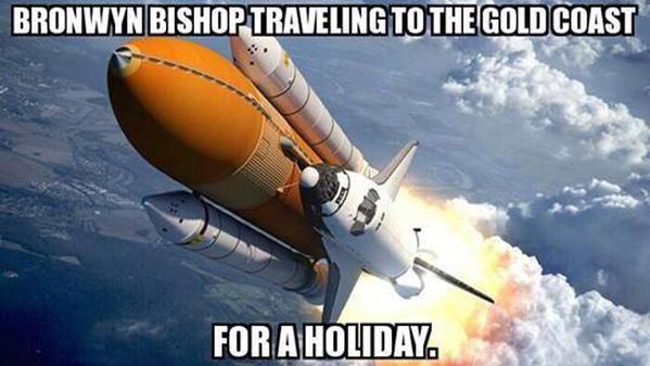 Bronwyn Bishop va en vacances
