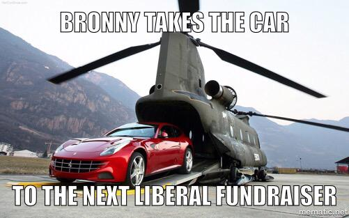 Bronwyn Bishop prend la voiture