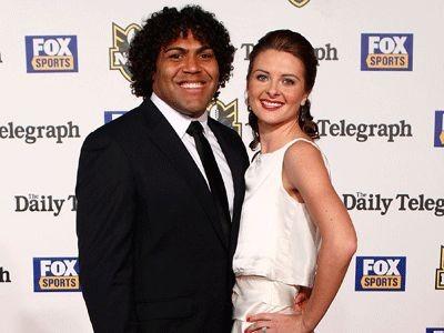 Sam Thaiday y Rachel Evans