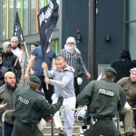 Isis Flags Fighting German Police