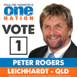 Peter Rogers One nation Leichhardt – State of the Nation