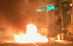 car burning france