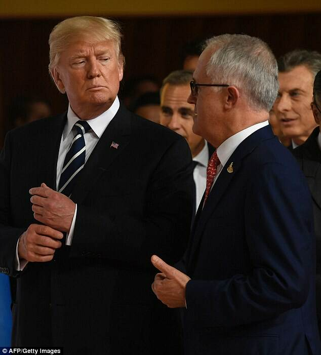 trump snubs turnbull