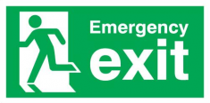 running man exit sign
